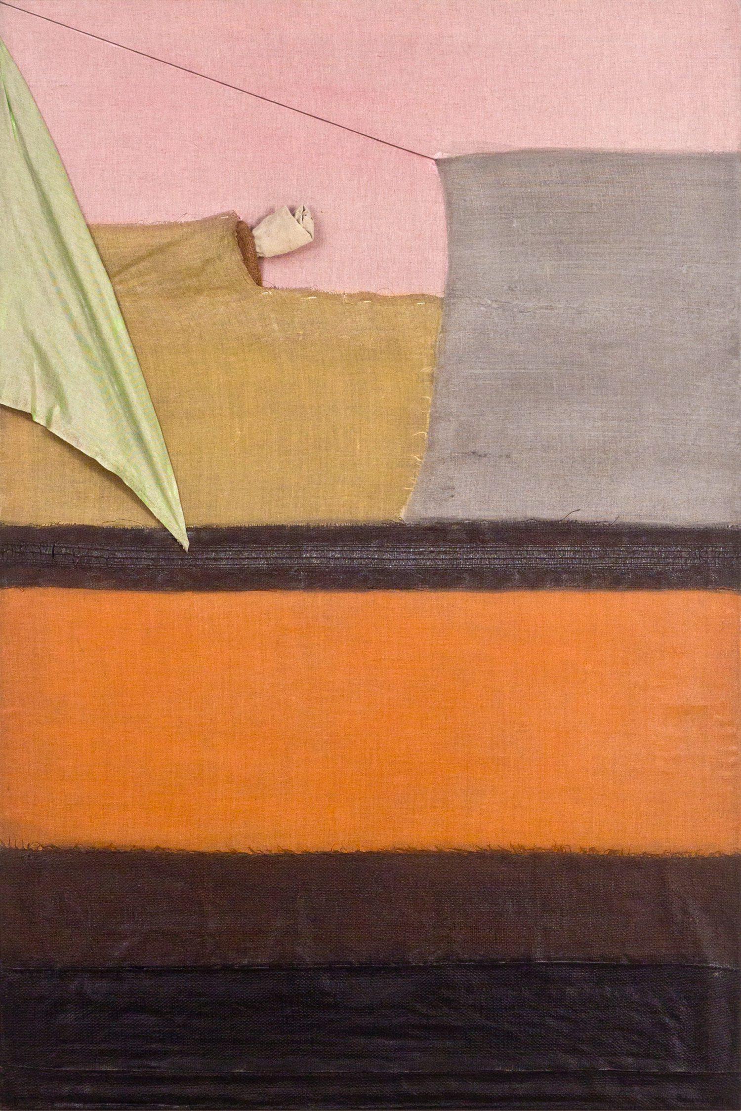 Meditatiivne maastik 1, 2014, Autoritehnika, 150×100