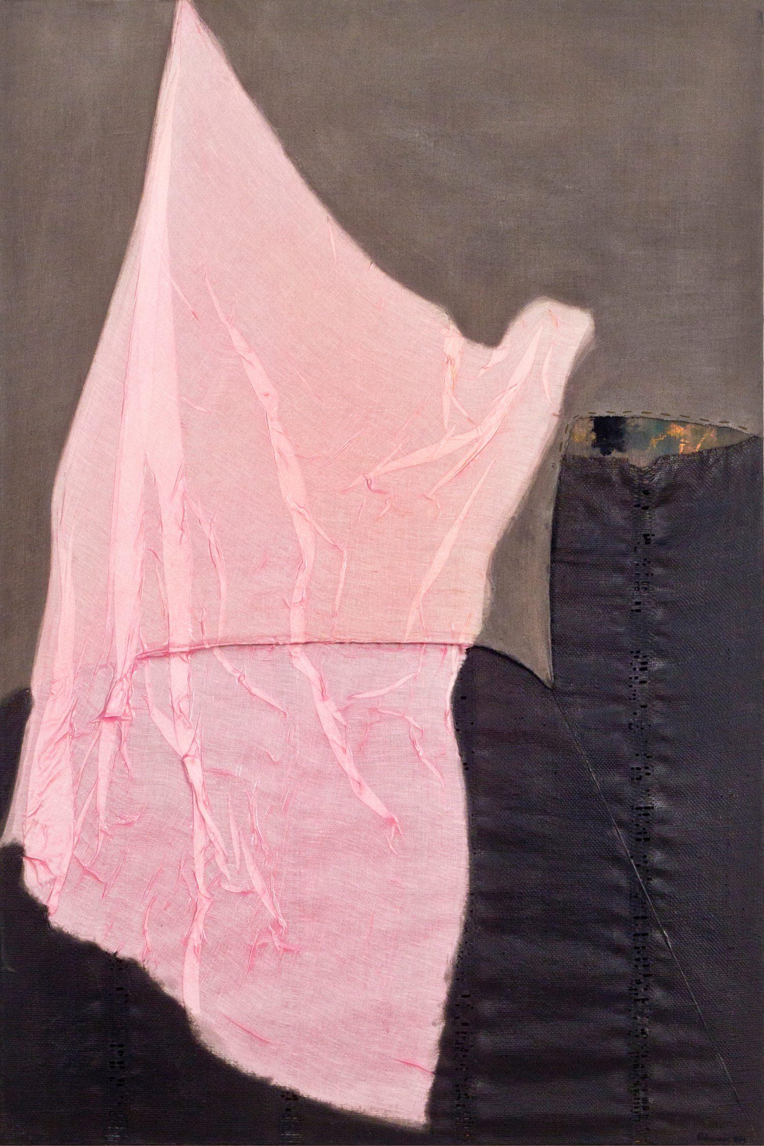 Meditatiivne maastik 4, 2014, Autoritehnika, 150×100