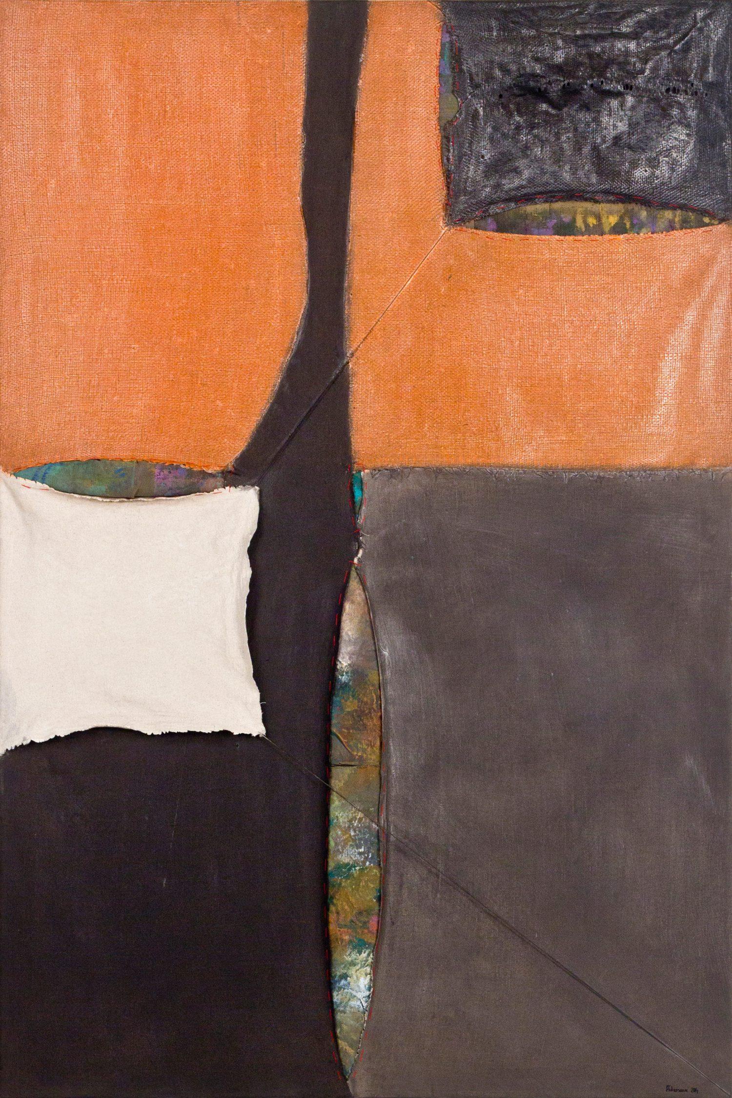Meditatiivne maastik 5, 2014, Autoritehnika, 150×100
