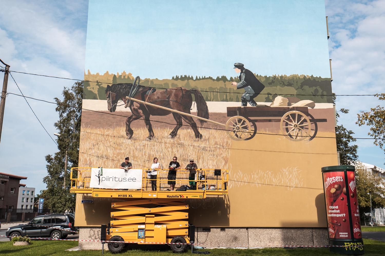 Keldrimäe 2 seinamaaling